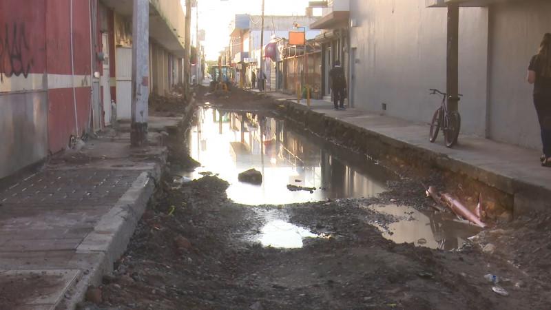 Lluvias retrasan obras en el municipio