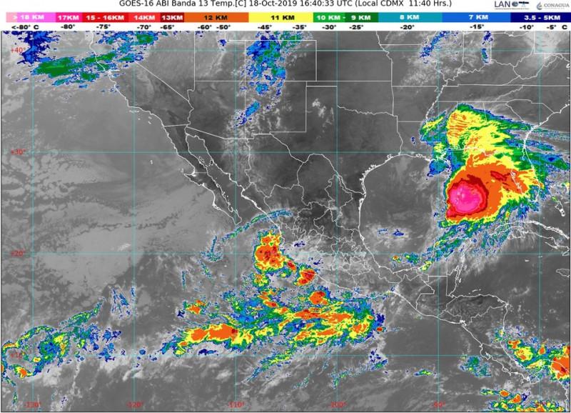Se pronostican lluvias y vientos en la región