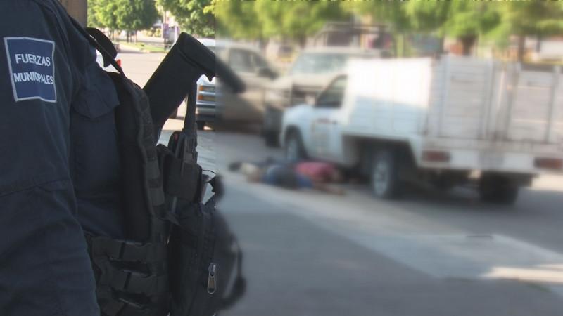 Pistoleros muertos y autos quemados permanecieron durante varias horas sin ser levantados