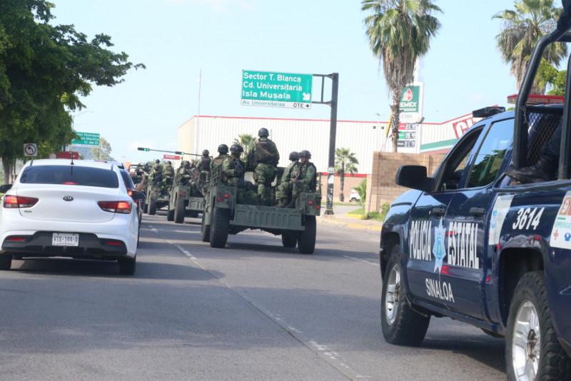 Fuerzas especiales se suman a los trabajos de vigilancia en Culiacán