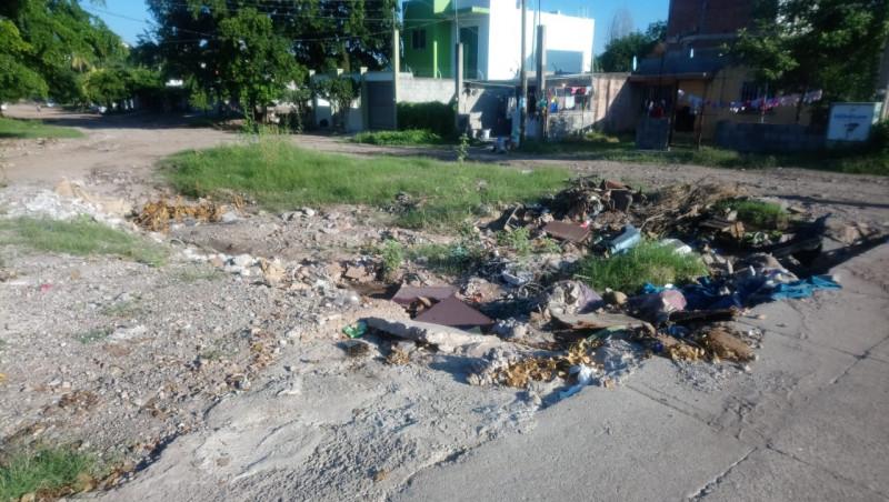 Problemas de recolección de basura en Ampliación Buenos Aires