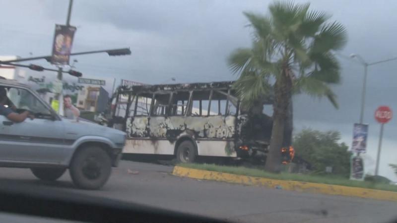Al menos 10 unidades del transporte público resultaron quemadas el pasado jueves en Culiacán