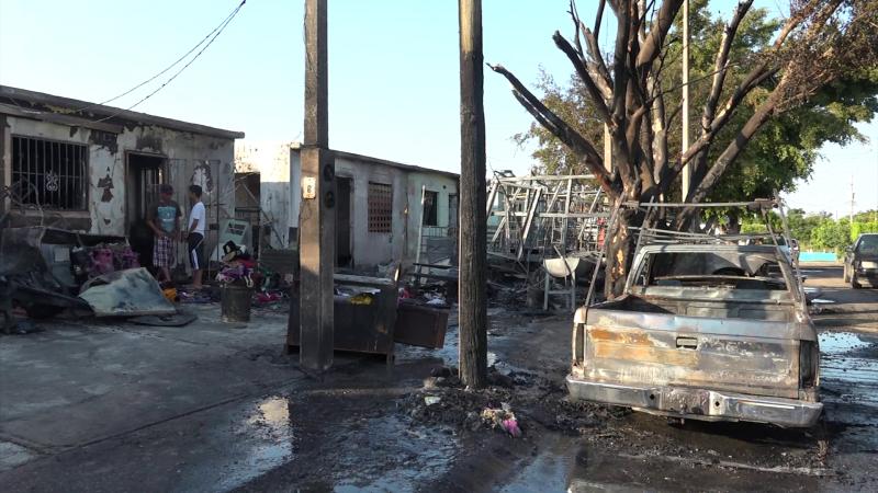 En riesgo familias de Santa Fe, ante incendio de gran magnitud