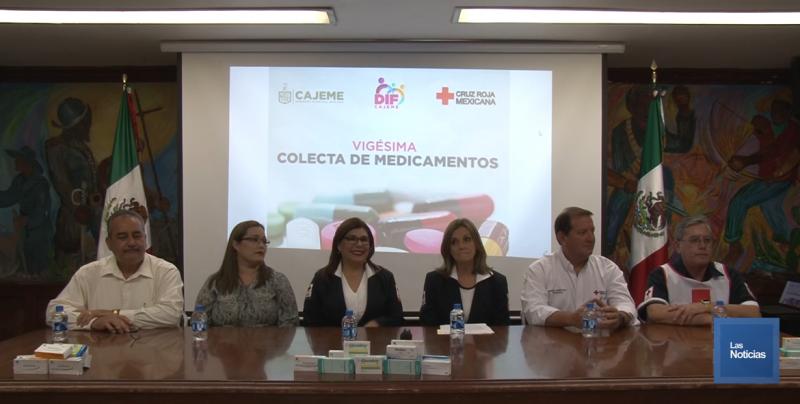 Anuncian colecta de medicamentos de Cruz Roja