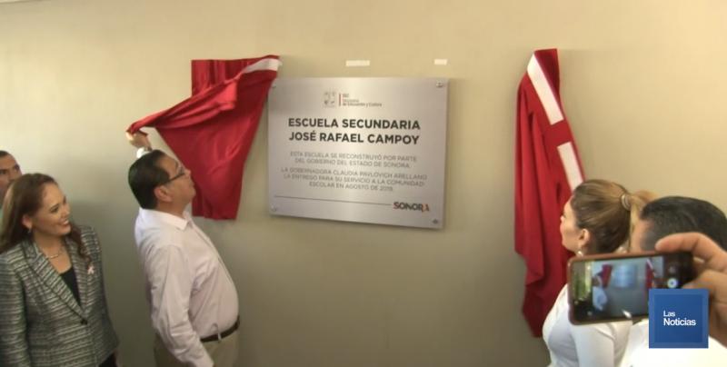 Inauguraron nuevas instalaciones de la secundaria José Rafael Campoy