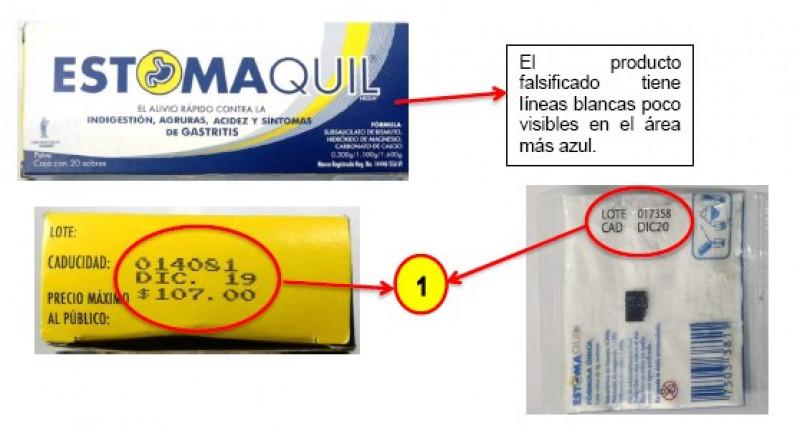 COEPRISS alerta sobre la falsificación y venta del producto Estomaquil