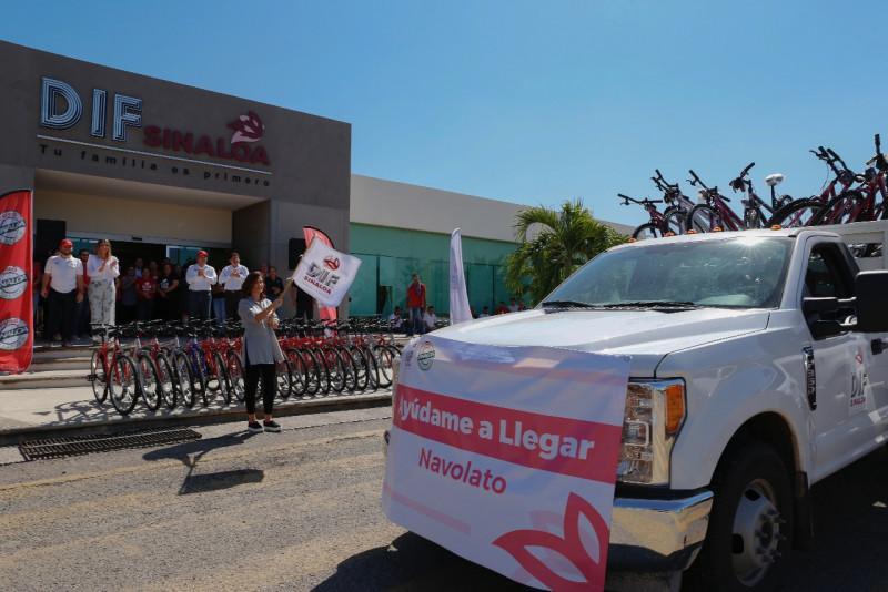 """DIF Sinaloa concluye el programa """"Ayúdame a Llegar""""; se entregaron 2 mil bicicletas"""