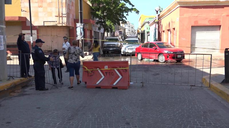 Cierran calles por primer informe del Químico