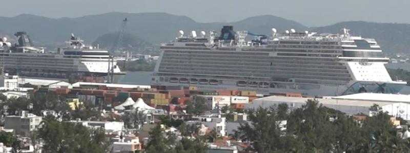 Suman 5 los cruceros que llegan a Mazatlán en la semana
