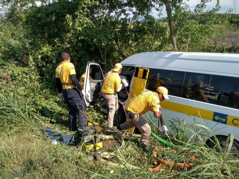 Cinco empleados de tienda departamental lesionados tras accidente