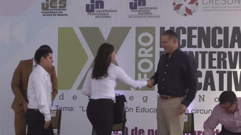 XI Foro de Licenciatura en Intervención Educativa de la Región Noroeste