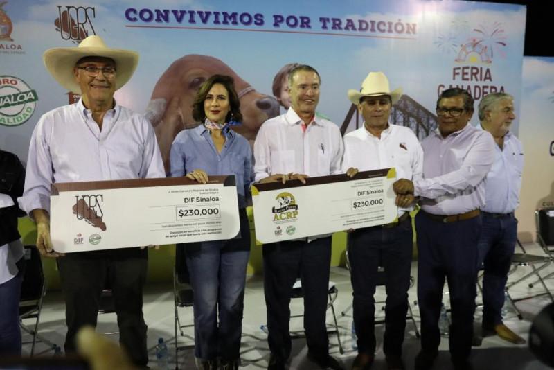 Recibe DIF Sinaloa donativo de los Ganaderos del Estado