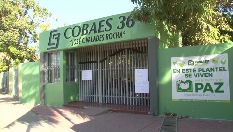 Miles de estudiantes del Cobaes en Sinaloa se quedaron sin clases