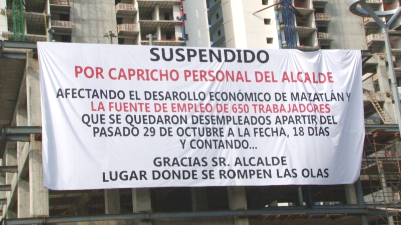 Suspenden obra por capricho del alcalde