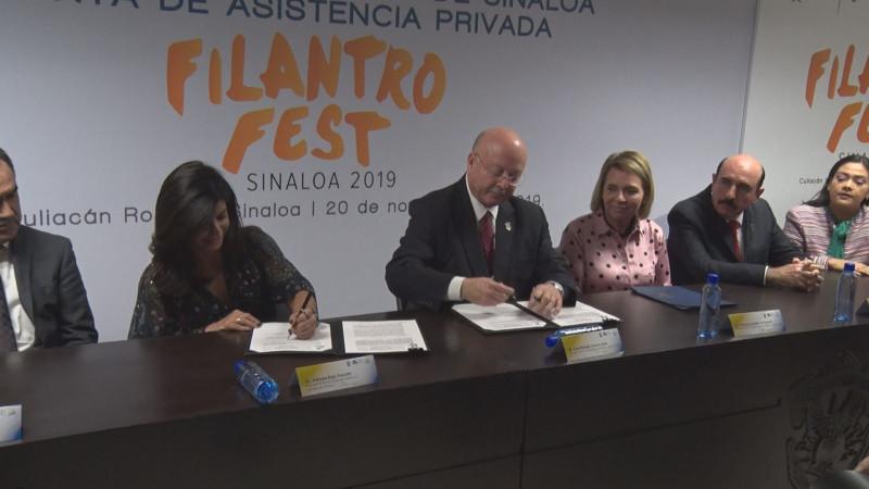 Convenio de colaboración de la UAS y la Junta de Asistencia Privada