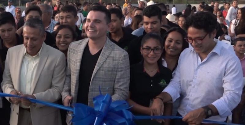 """Inauguran Telebachillerato """"Horacio Palencia"""" en el ejido Tablón No.1"""