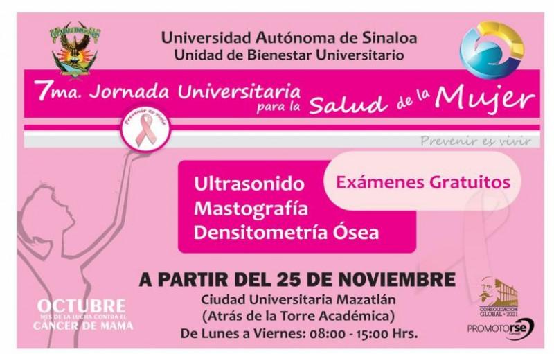 UAS anuncia 7ma Jornada Universitaria para la Salud de la Mujer