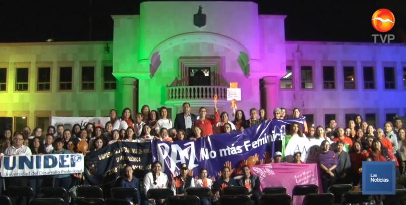 Marchan y buscan en Cajeme erradicar la violencia contra las mujeres