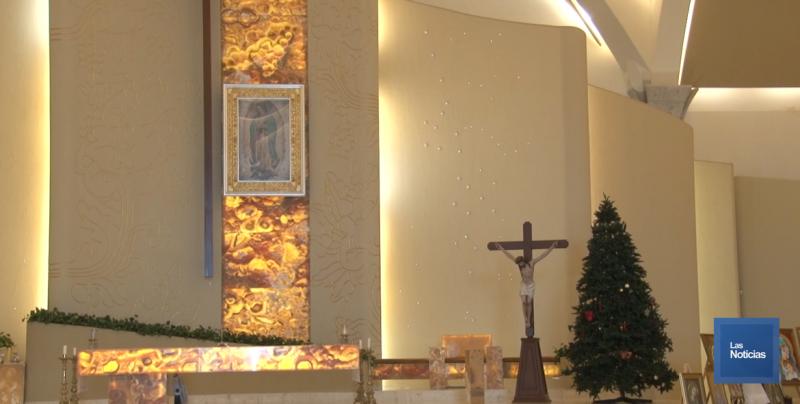 Colocan el Pino de la Solidaridad en el Santuario de Nuestra Señora de Guadalupe
