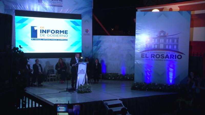 Rinde alcalde de Rosario Primer Informe de Gobierno