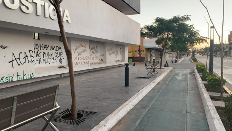 Detenida por vandalismo feminista pagó fianza
