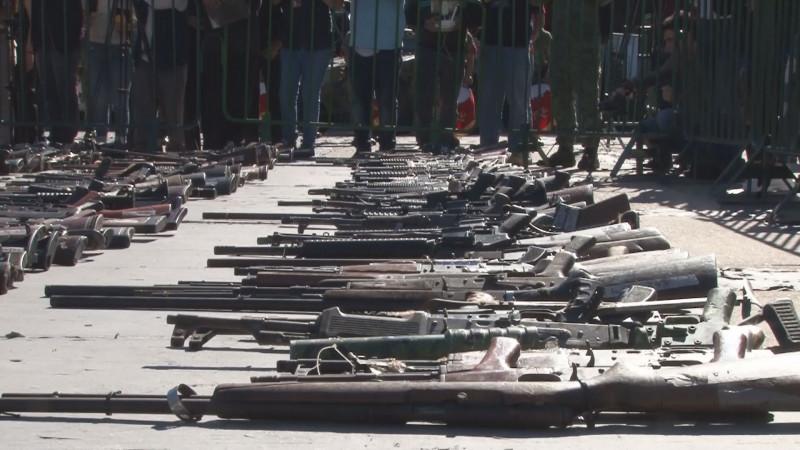 Destruyen armar de grueso calibre decomisadas al narco