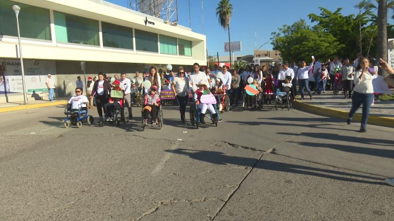 Realizan marcha y festival cultural por el día de las personas con discapacidad