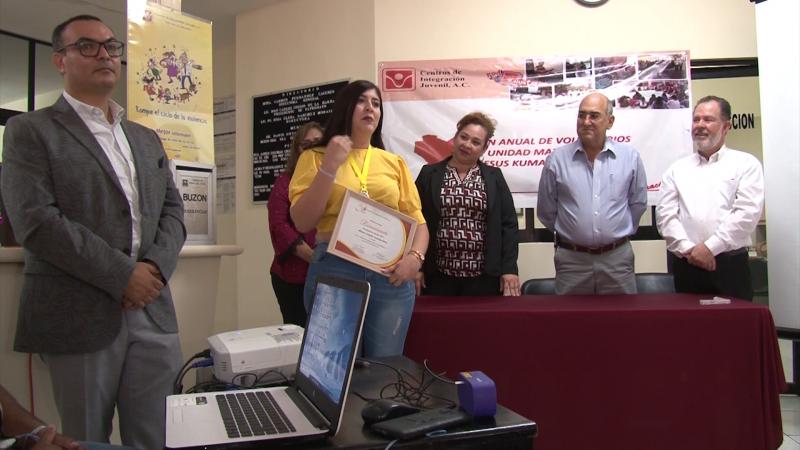 """CIJ Mazatlán entrega galardón """"Voluntario del año 2019"""""""