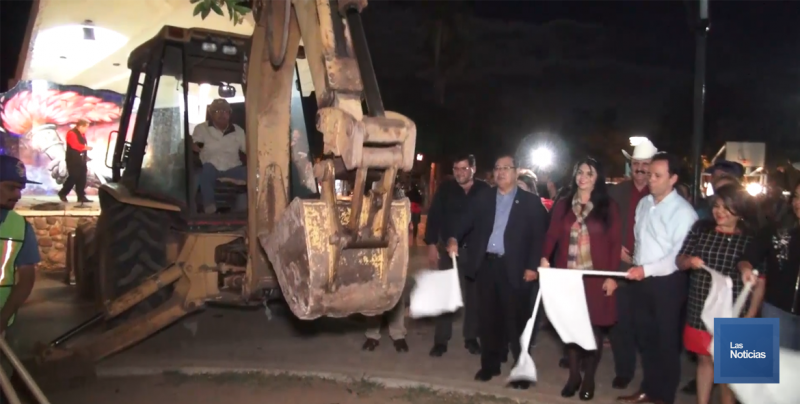 Arranca Alcalde obra de rehabilitación de Plaza de Esperanza