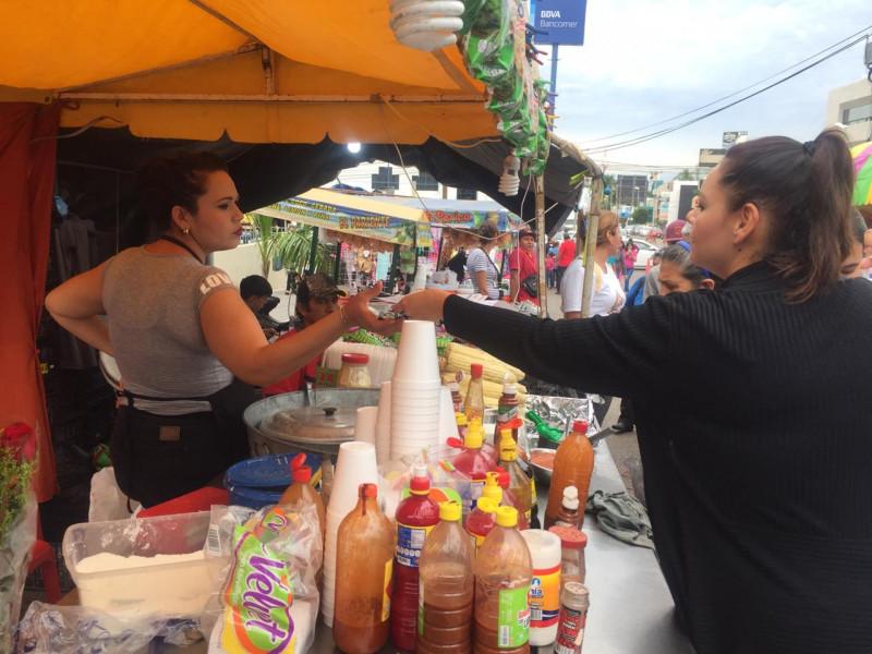 Activan operativo de vigilancia y fomento sanitario en comercios temporal de La Lomita