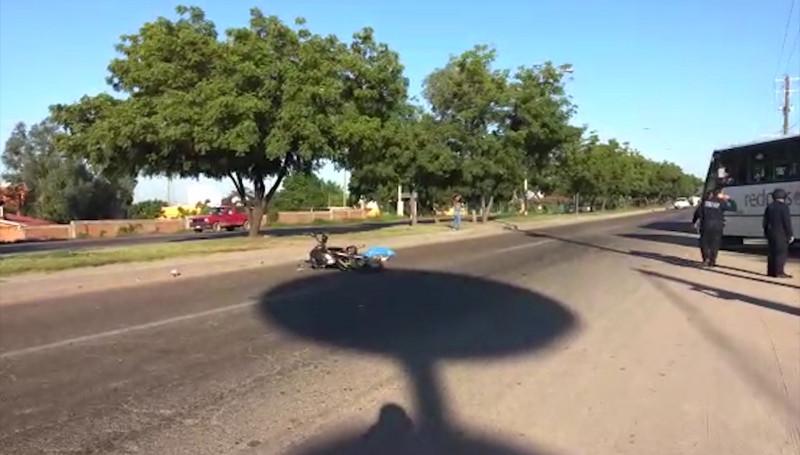 Muere motociclista embestido por un Autobús en La Sirena