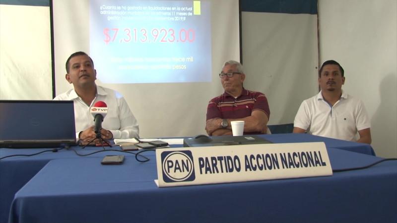 Paga Ayuntamiento más de 7 mdp por liquidaciones, denuncia el PAN