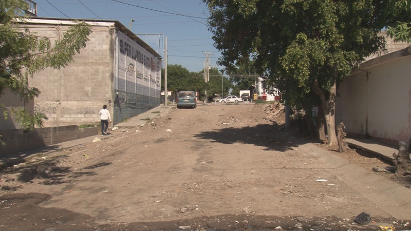 Limpian la calle Ernesto Damy en Nakayama