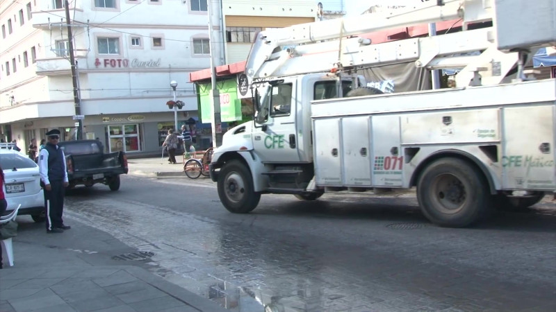 Cierran calles del Centro por obras en el Pino Suárez