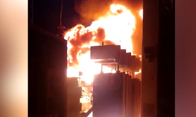 Subestación de energía la CFE sufre fuerte incendio
