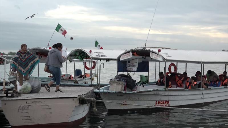 Frío provoca poca actividad en el embarcadero de la Isla de la Piedra