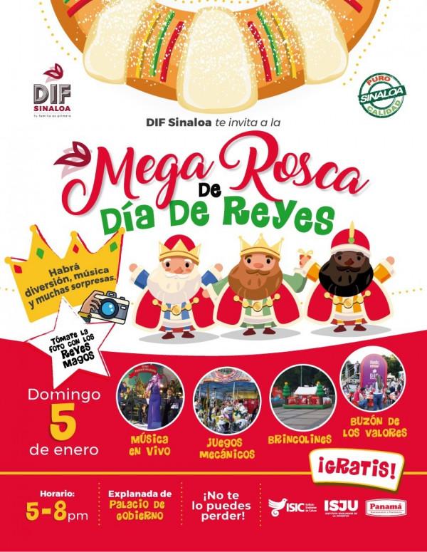 DIF Sinaloa invita a partir la rosca de reyes
