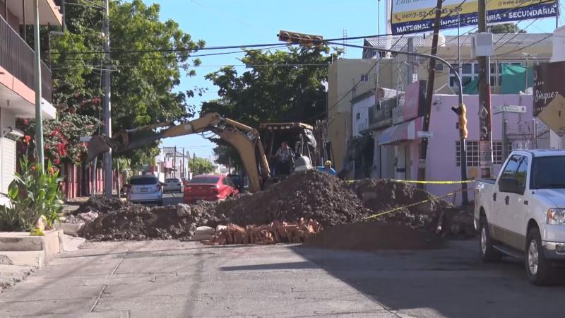 Recursos de CAPUFE son los que se invierten en colector de la calle Sepúlveda
