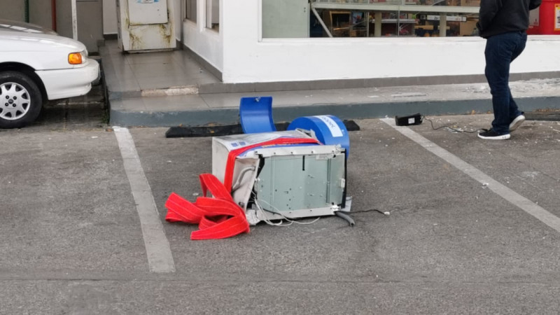 Se roban cajero automático en Musala