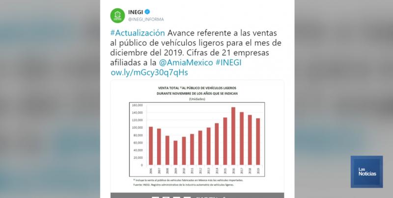 2019 Tuvo Las Ventas Más Bajas De Autos En Seis Años: Inegi