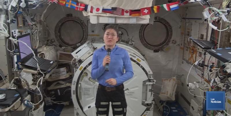 Astronauta impone récord como la mujer con mayor tiempo en el espacio