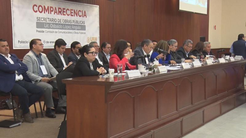 Cuestionan diputados opacidad en aplicación de recursos en obra pública