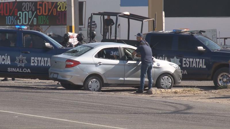 Se registró persecución y enfrentamiento a balazos sobre la Calzada Aeropuerto