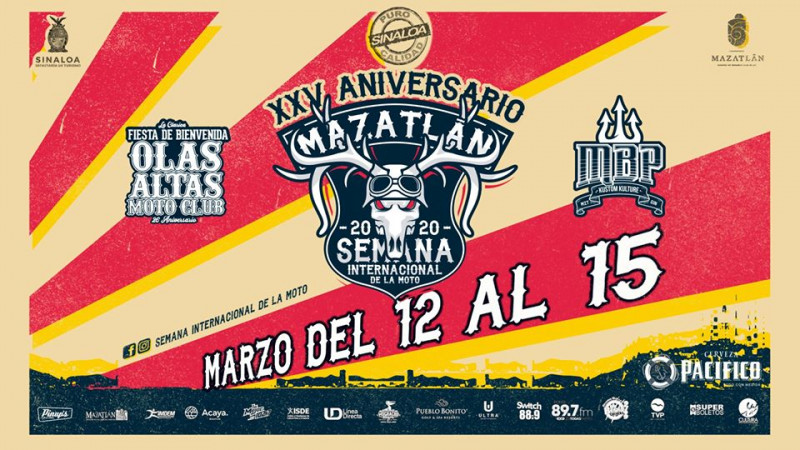 Resultado de imagen de festival de la moto mazatlan 2020