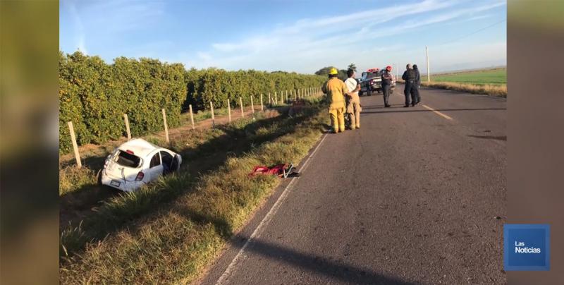 Trágico accidente en el Valle del Yaqui