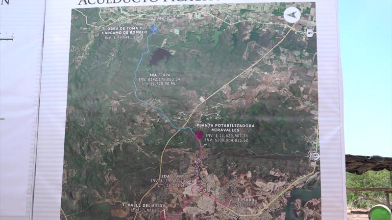 Al 90 por ciento el Acueducto Miravalles en Mazatlán