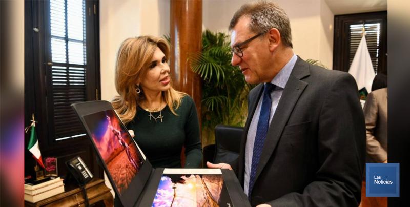 Visita a Sonora Peter Temple, embajador de Alemania en México