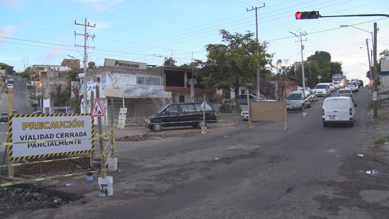 Cerrada parcialmente ciudades hermanas esquina con 21 de marzo