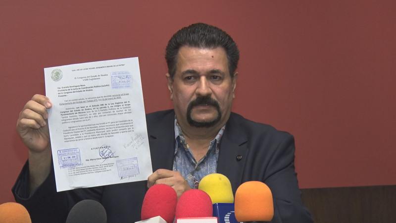 En la instalación de la Comisión Permanente Marco César Almarar renuncia al PT