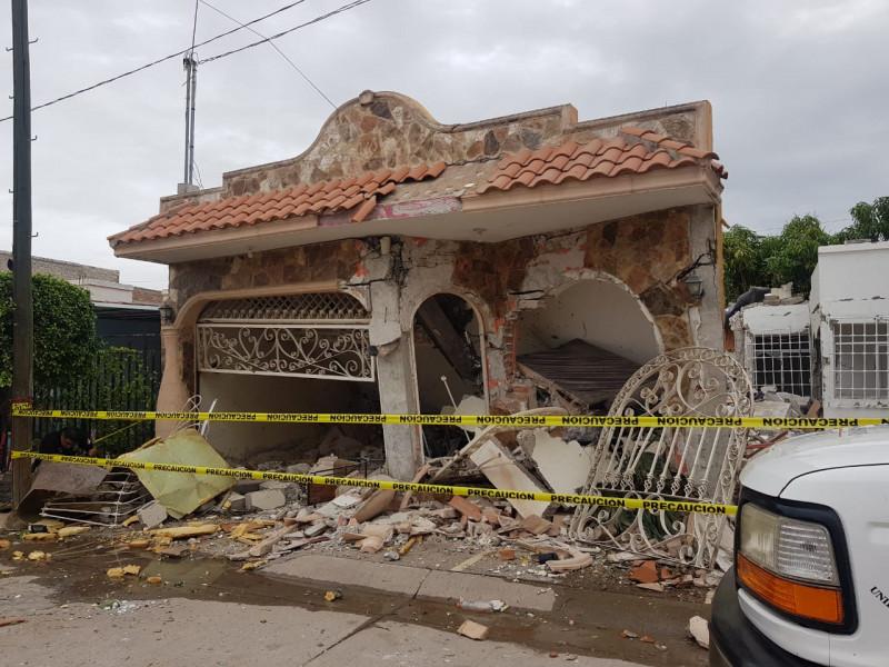 Realizan peritaje en casas afectadas por explosión